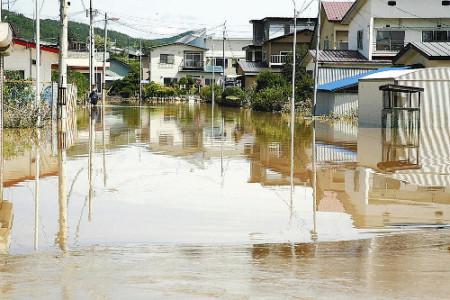 台風7号による足寄町の被害状況。床上浸水40戸